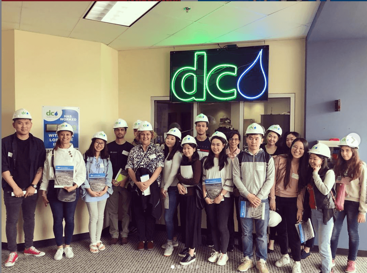 mentora college students Field Trip DC Water CO